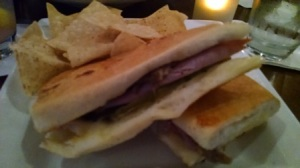 This is a Cuban sandwich. There's no avoiding eating one after you see Chef. Do yourself a favor and get one lined up in advance. This one comes from Paladar in Rockville, MD.